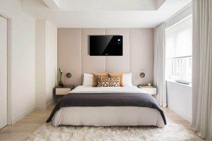 Electric Panel Heater in Bedroom