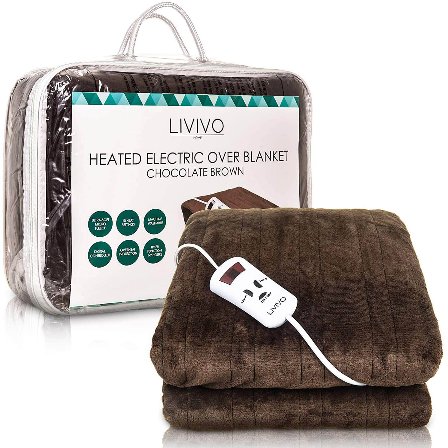 LIVIVO Heated Electric Over Blanket