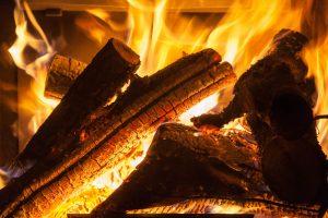 Logs Burning in Stove