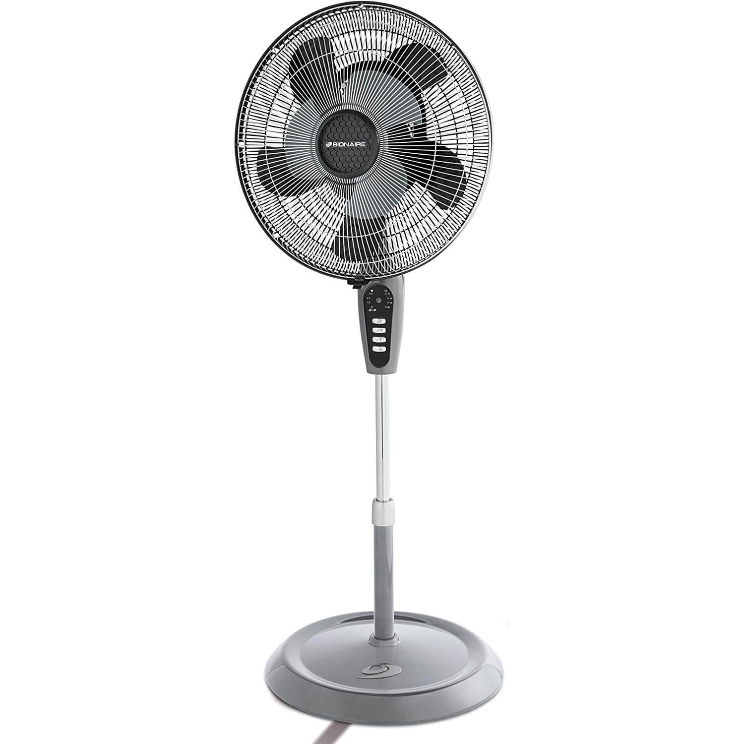 "Remote Control 16/"" Oscillating Extendable Standing Tower Pedestal Cooling Fan UK"