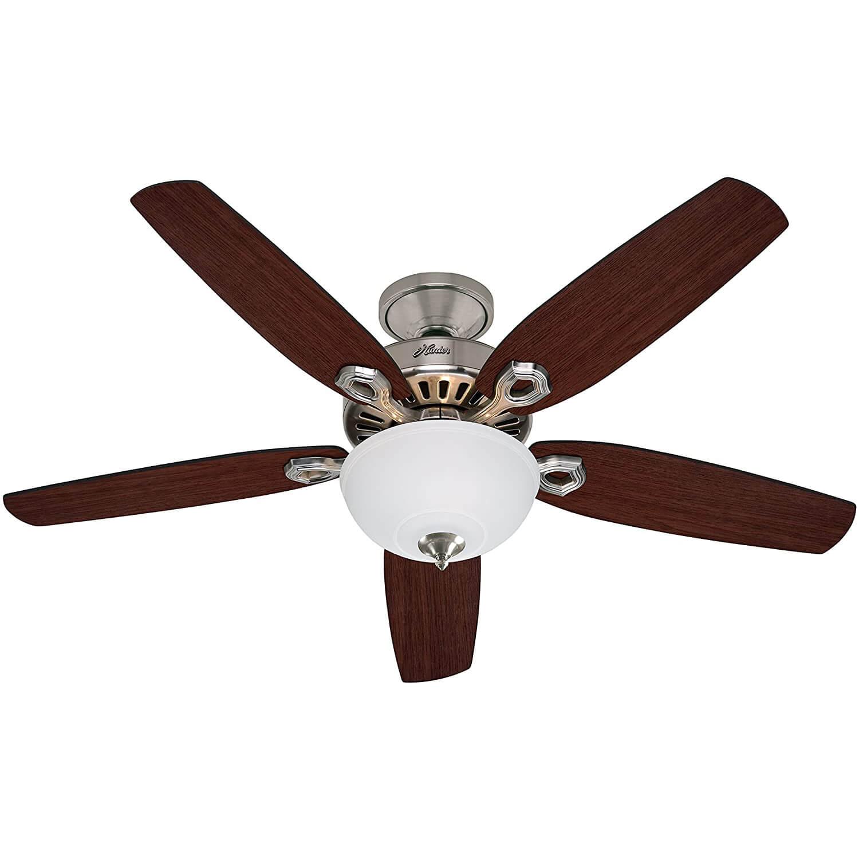 Hunter Fan Builder Deluxe Ceiling Fan with Light