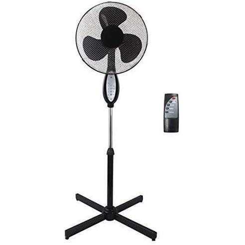 Sohler Black Electric Remote Controlled Pedestal Fan